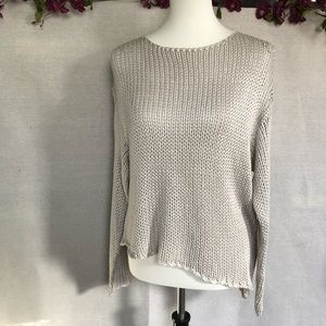H&M Divided Gray Knit Asymmetrical Sweater